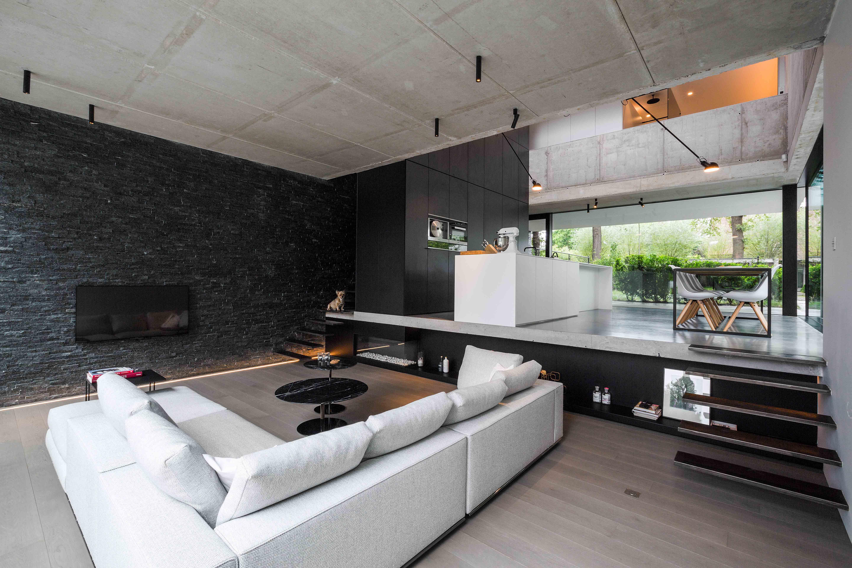 moderne strakke hob crepi brasschaat zitput icoon architecten
