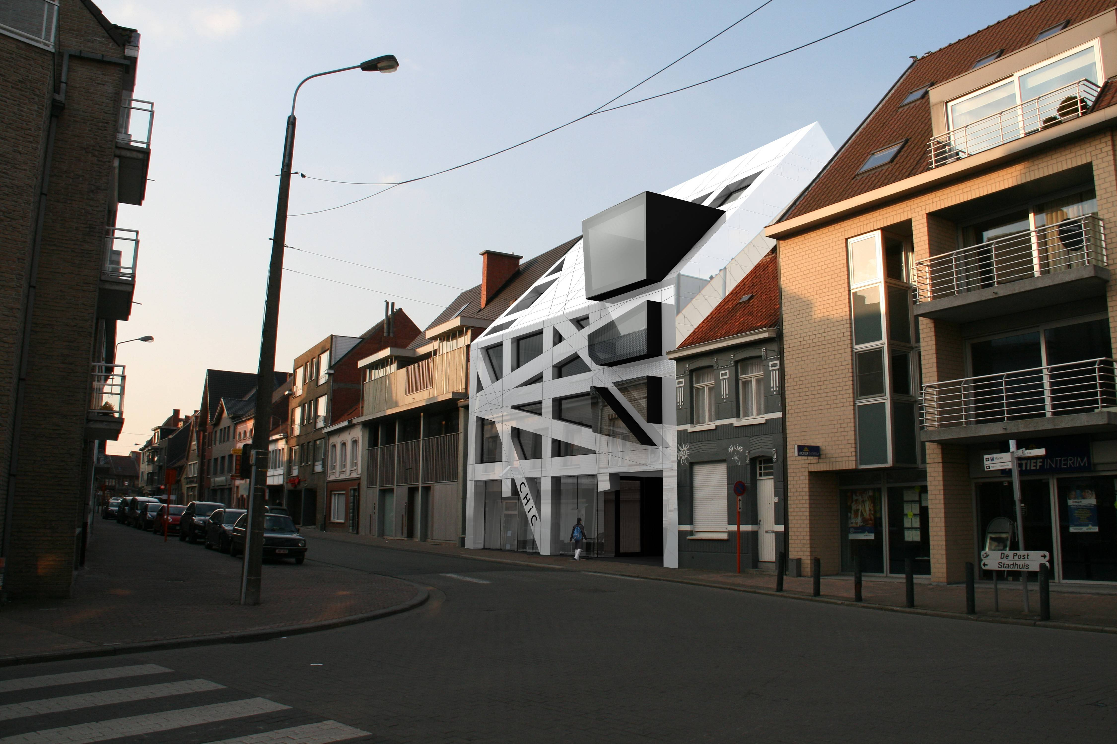 strakke hedendaagse appartementen futuristisch torhout icoon architecten