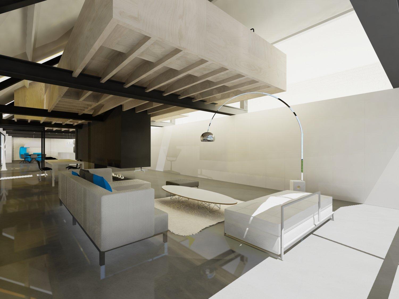Strakke minimalistische renovatie hoeve boerderij loft warm
