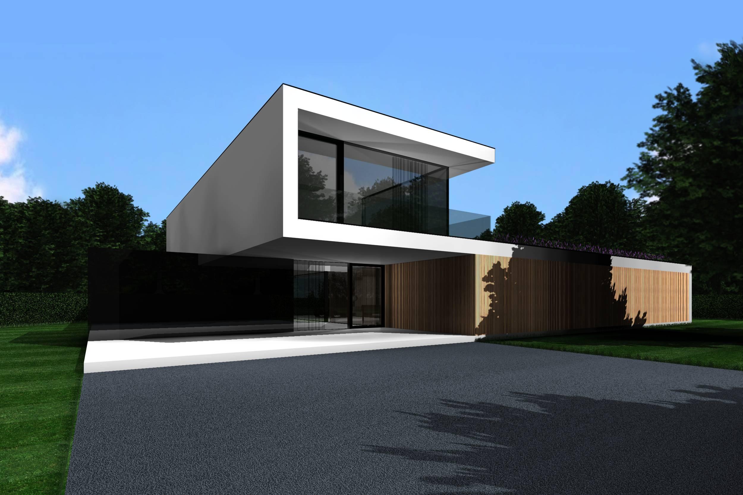 Strakke moderne tijdloze woning brasschaat architecten icoon - Moderne uitbreiding huis ...